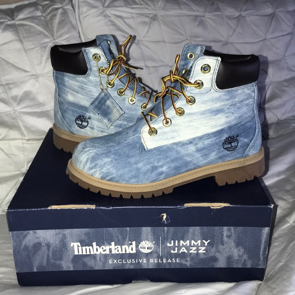 special price for professional sale buy popular TIMBERLAND (JRS 6) EXCLUSIVE 6 INCH DENIM BOOT EUC